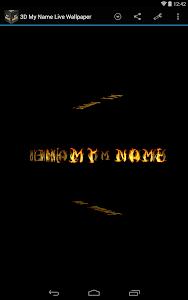 3D My Name Live Wallpaper screenshot 8