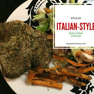 Whole30 Italian Style Shake N Bake Pork Chops.