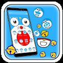 Kawaii Blue Cat Cartoon Theme! icon