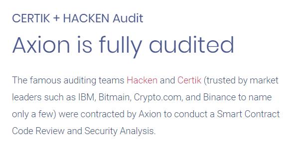 CertiK, Hacken Audit