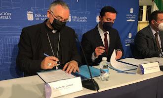 El obispo coadjutor de Almería visita la Diputación