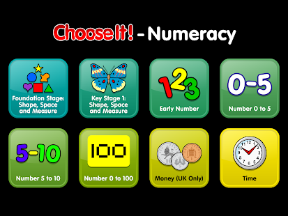 ChooseIt! Numeracy- screenshot thumbnail