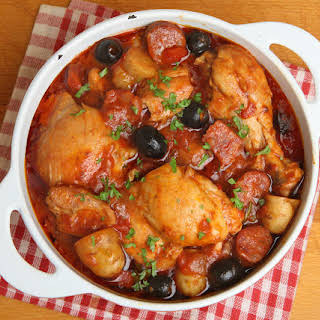 Chicken Casserole with Pineapple and Garlic.