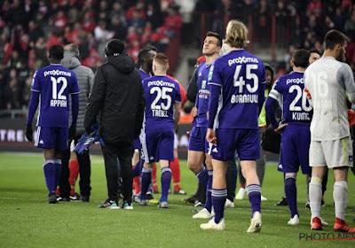 Aucun joueur d'Anderlecht en zone mixte après le match