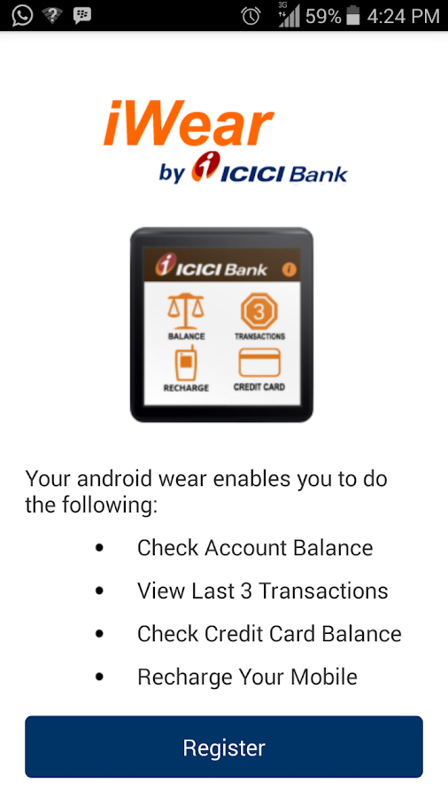 iWear by ICICI Bank- screenshot