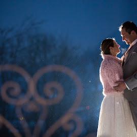 Winter Wedding by Mauro Locatelli - Wedding Bride & Groom ( mauro locatelli, romantic, wedding love, winter weddings )