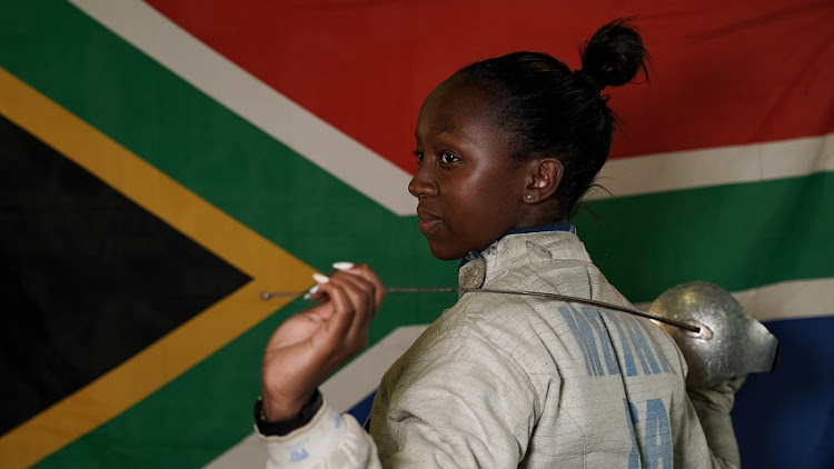 Soweto fencer Nomvula Mbatha as she tells the story of her renewed hope for her future in sports.
