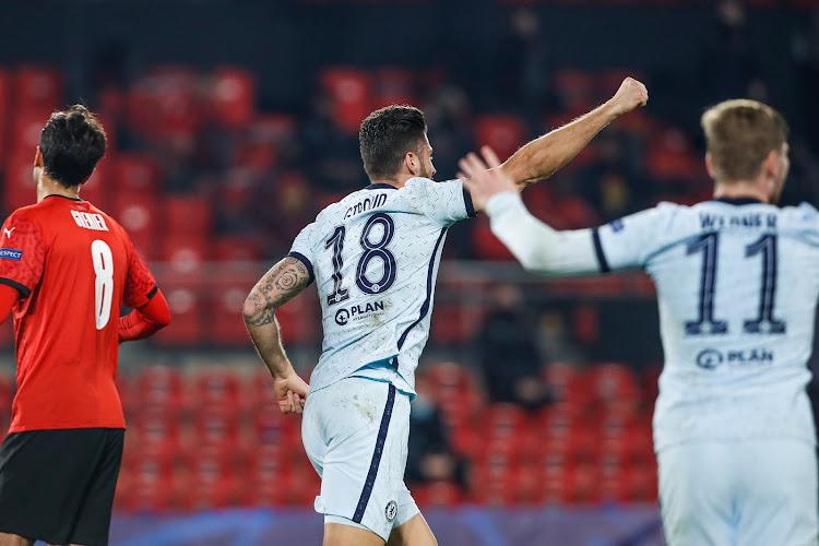 Romelu Lukaku battu par Olivier Giroud