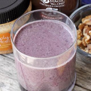 Blueberry Protein Smoothie.