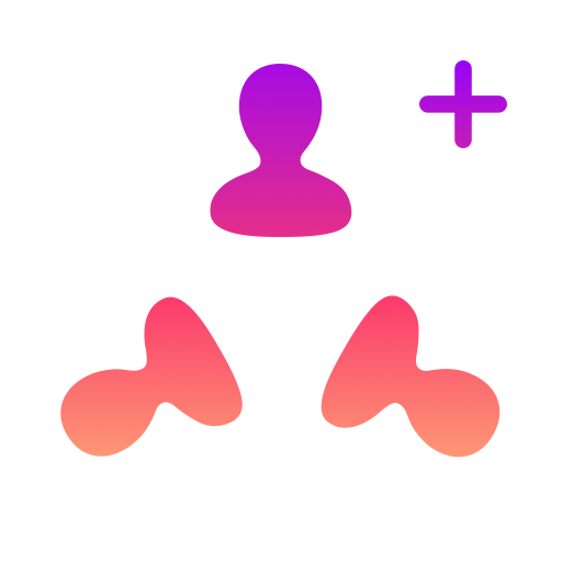 AddPlus Followers with Kaleidoscope Photos Icon