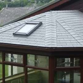 a composite roof on a conservatory