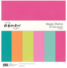 Simple Stories Basics Double-Sided Paper Pack 12X12 6/Pkg - Oh Happy Day UTGÅEND
