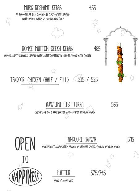Open House menu 15