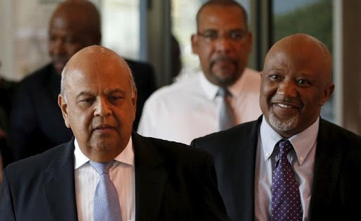 Deputy Finance Minister Mcebisi Jonas (R) and Finance Minister Pravin Gordhan. Picture: REUTERS, SIPHIWE SIBEKO
