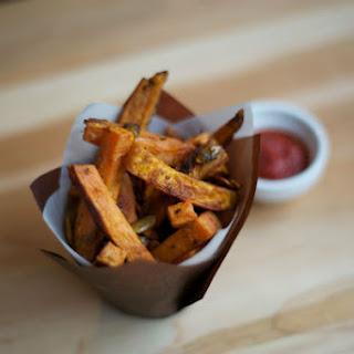Garlic Oregano Yam Fries
