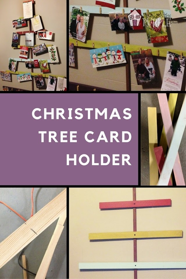 Easy Customizable DIY Christmas Tree Card Holder PrettyPurpleDoor.com