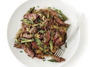 Sirloin Tips With Green Onion & Asparagus Recipe