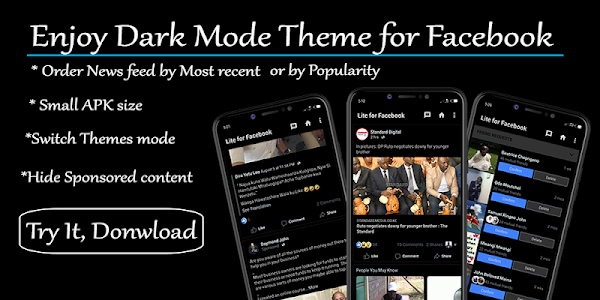 Dark Theme Mode for Facebook 3 8 3 + (AdFree) APK for Android