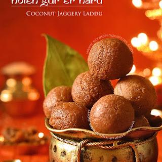 Narkel Naru | Nolen Gurer Narkol Naru | Coconut Laddu | Coconut Jaggery Truffles