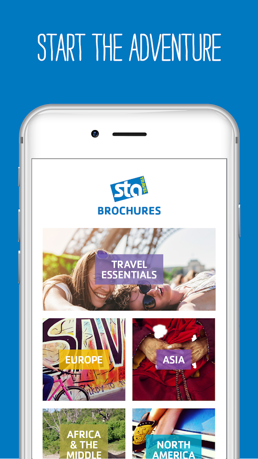 STA Travel Brochures- screenshot