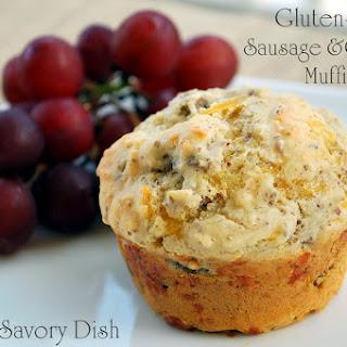 Gluten-Free Sausage Cheddar Muffins.