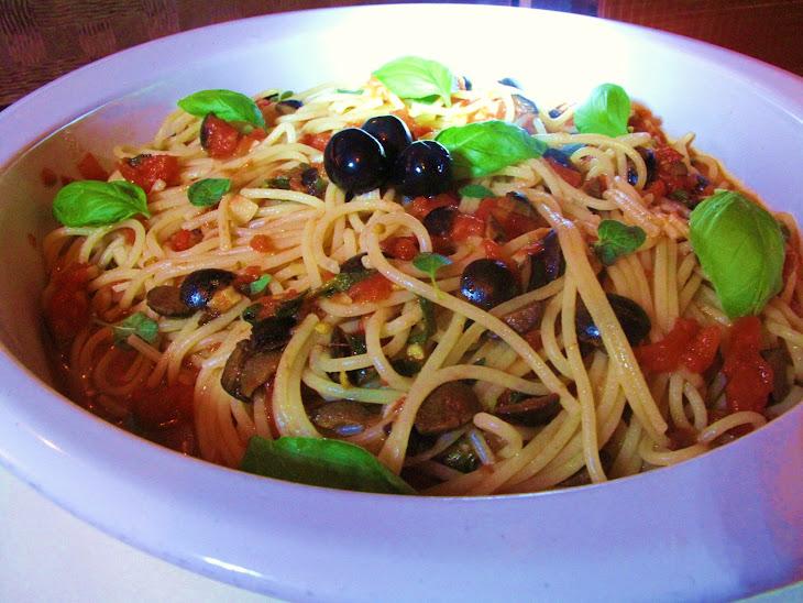 Spaghetti with Puttanesca Sauce Recipe