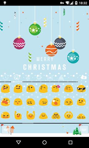android Emoji Keyboard-First Snow Screenshot 1