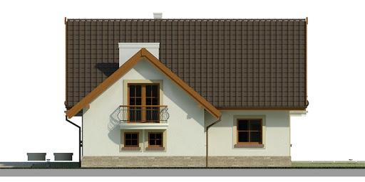 Dom przy Pomarańczowej 2 - Elewacja prawa