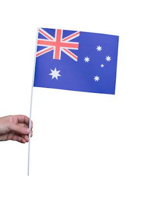 Pappersflagga, Australien