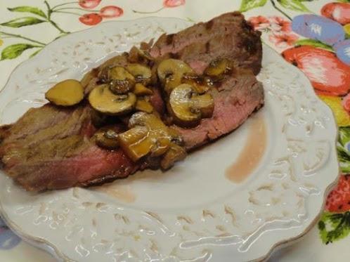 Marinated Flank Steak & Mushrooms