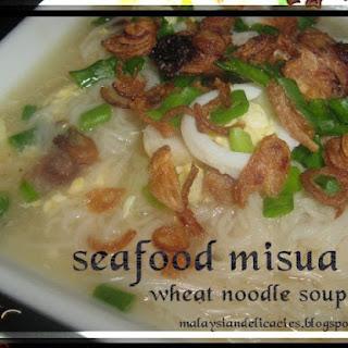 Seafood Misua/Misoya Soup.