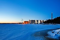 A beautiful landscape forms during winter in Hamina, Finland, as the gulf ices over and creates a picturesque view near a data center location.