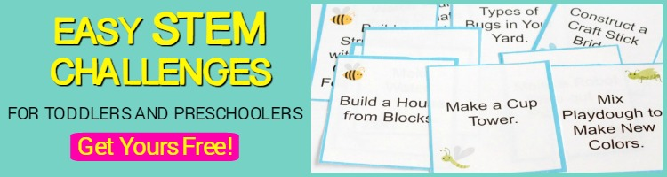 toddler stem challenge cards