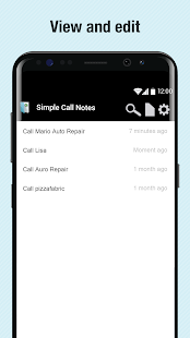 Simple Call Notes- screenshot thumbnail