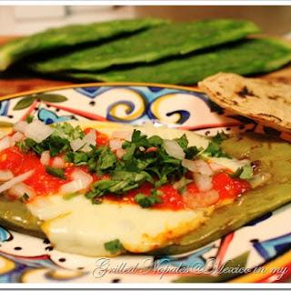 Grilled Cactus-Nopales / Nopales Asados a la Plancha.