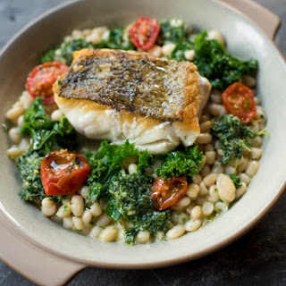 Roasted Hake, Beans And Kale.