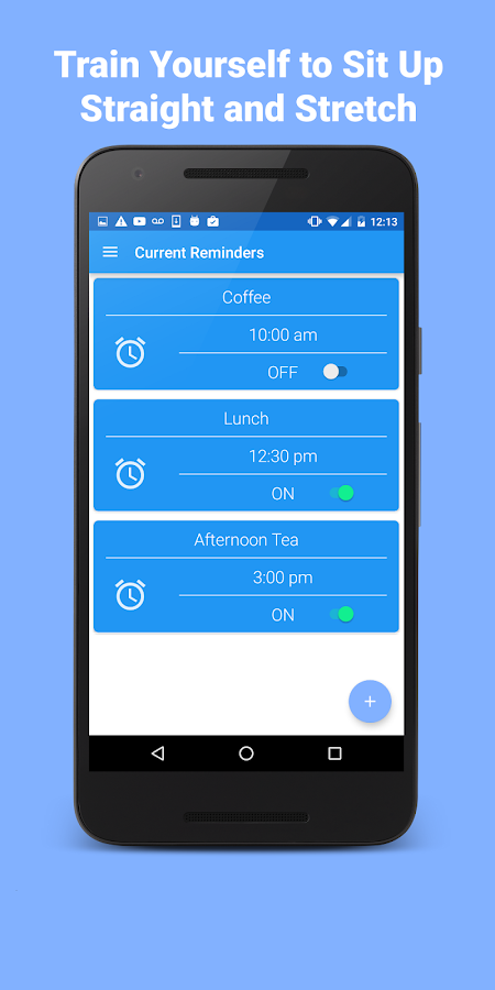 PosTrainer Alarm App- screenshot