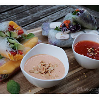 Summer Rolls with Peanut Sauce and Sweet Chili Sauce Recipe
