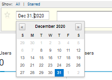 Screen shot of a calendar in Google Analytics that allows you to select the date of the annotation you're making.