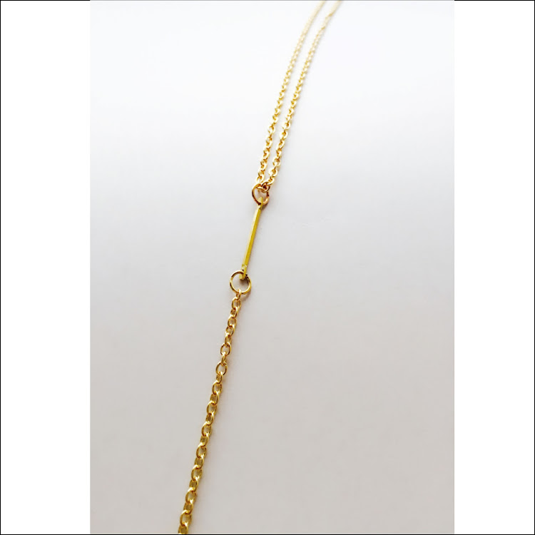 N041 - G. Lux Y-Bar Lariat Necklace by House of LaBelleD.