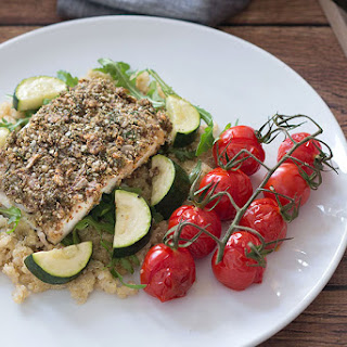 Roasted Hake With Hemp & Herb Crust.