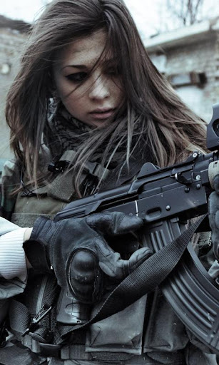 Soldier Girl Live Wallpaper