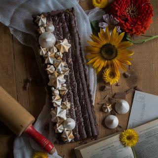 Chocolate Cinder Toffee Tart.