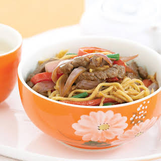 Mongolian Lamb with Hokkien Noodles.