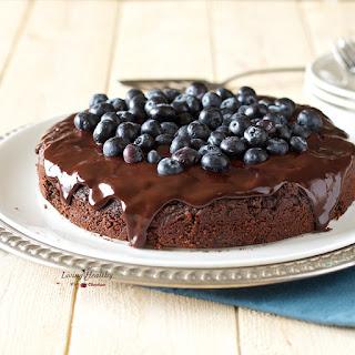 Blueberry Chocolate Cake (gluten-free, dairy-free, Paleo).