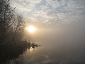 Photo: Priorslee Lake A rather watery sunrise at that. (Ed Wilson)