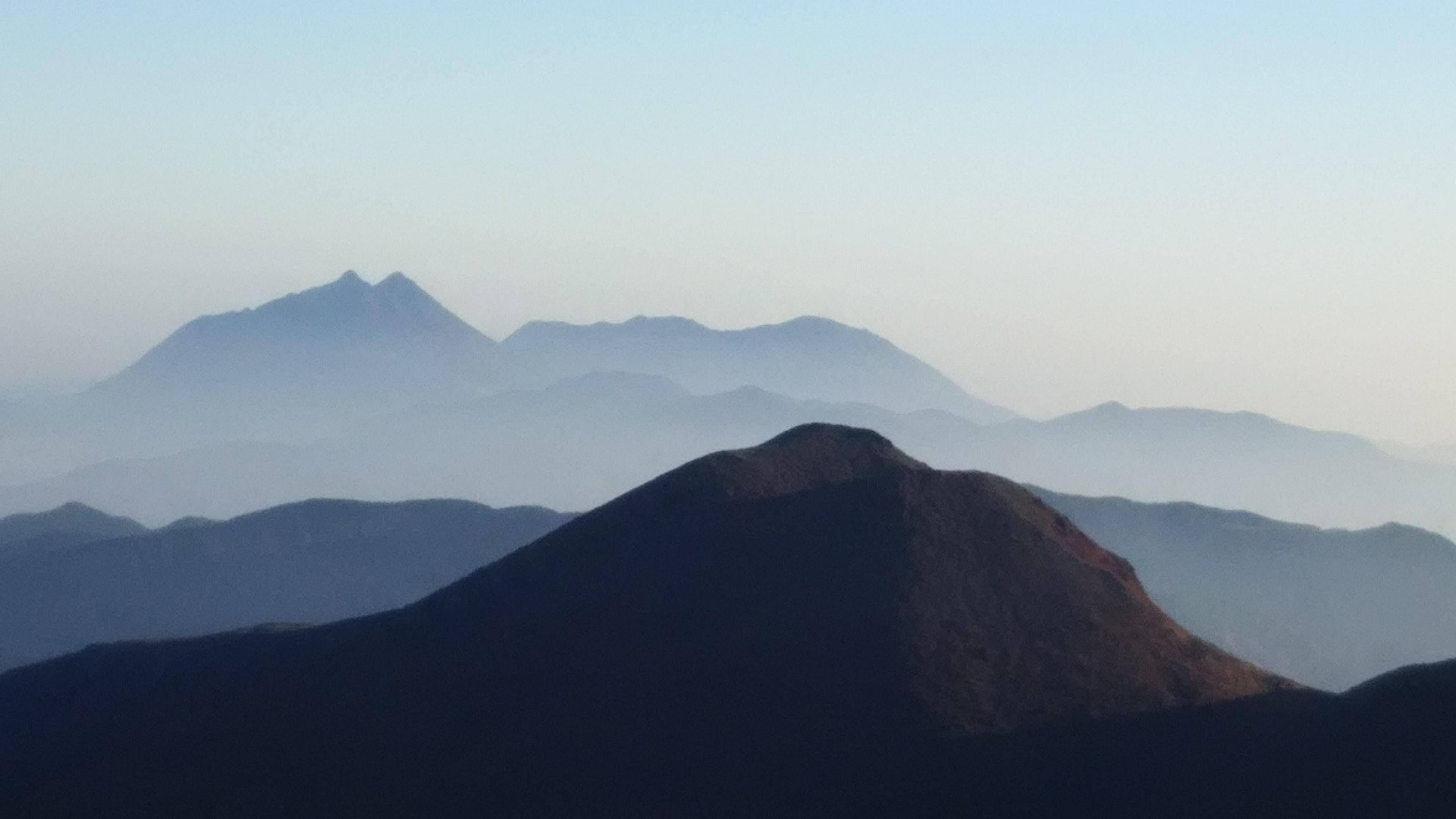 平治山と由布岳