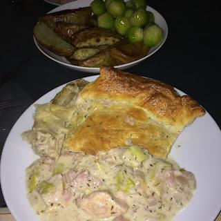 Chicken 'n Leek Pie
