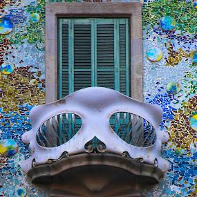 Gaudi by Rui Quinta - Buildings & Architecture Architectural Detail ( gaudi, barcelona, spain,  )