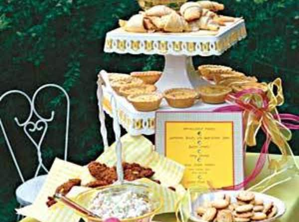 Stuffed Pizza Rolls,tangy Limeade,ham-and-cheese Tartlets,sweetheart Biscuits With Apple-chicken Salad,apple-chicken Salad ,button Cookies Kid Wedding Party Recipes.